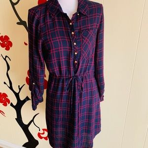 Just Fab Navy/Red Shirt Dresss size M
